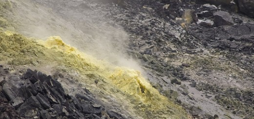 A sulphur vent in the Halema